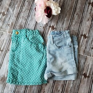 Bundle of girls size 8 shorts and skirt